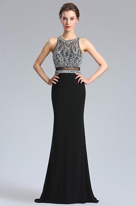 d36183700a rochie de bal rochie de banchet neagra cristale