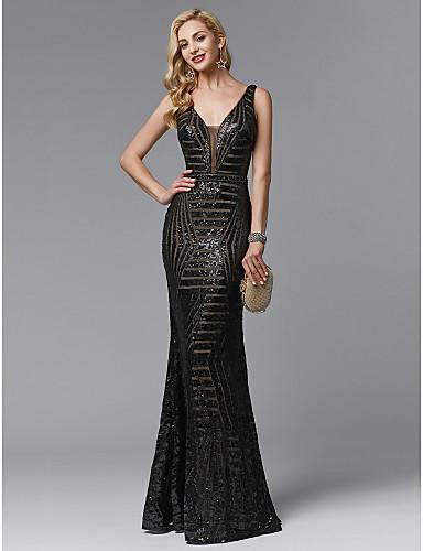 rochie de seara neagra paiete rochie de bal 06717258