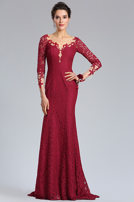 rochie eleganta de seara dantela red wine rosu inchis rochie soacra rochie mama miresei d26181617b