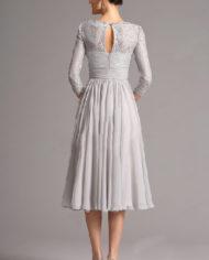 rochie mama miresei gri rochie soacra midi eleganta 26160108 2