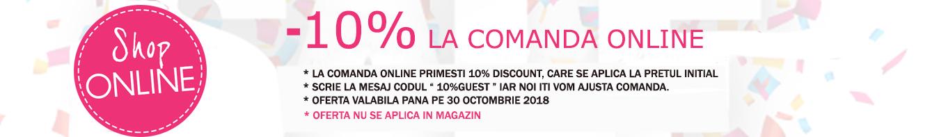 oferta de 10% la comanda online rochii de ocazie