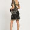 ackelon29619748_22676 rochie cocktail margele aurii neagra rochie de petrecere negru auriu sposa 5