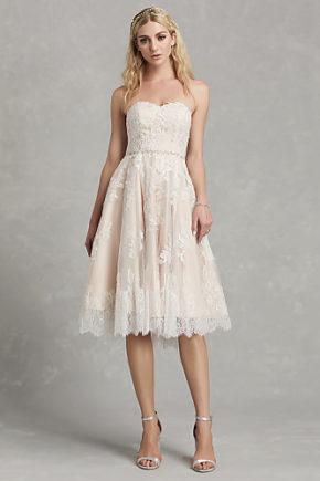 rochie de mireasa scurta pana la genunchi dantela chantilly 2019 rochie de mireasa ivory 06664507 10