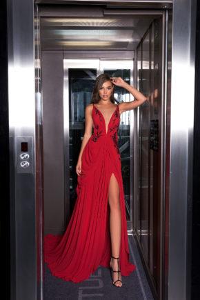 369A5960-rochie-de-seara-eleganta-rosie-voal-v-necl-ls-19-05-sposa-dell-amore-2019