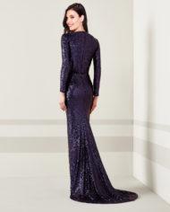 rochie de seara eleganta paiete gri mov sposa dell amore sirena rochie de soacra 06112018 7