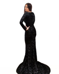 rochie de ocazie paiete neagra rochie sposa dell amore rochie unicat maneci rochie bal rochie de banchet 1207201825 j