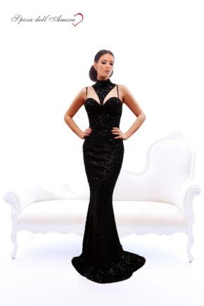 rochie de ocazie paiete neagra rochie sposa dell amore rochie unicat pe gat bal rochie de banchet 12062018