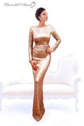 rochie de ocazie paiete nude crem spate decoltat rochie sposa dell amore rochie unicat maneci rochie bal rochie de banchet 12062018p;