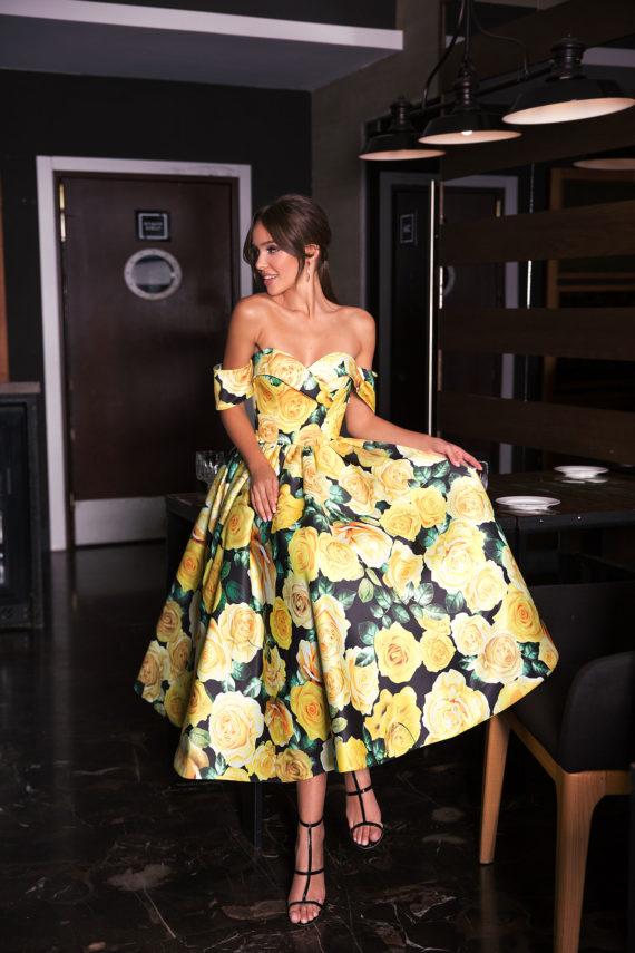 rochie-de-petrecere-rochie-cocktail-inflorata-galbena-rochie-midi-retro-sposa-dell-amore-2019-369A6423